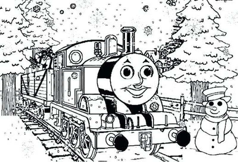 thomas the train birthday coloring pages