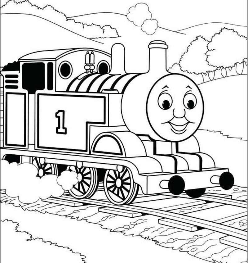 thomas the train coloring pages images