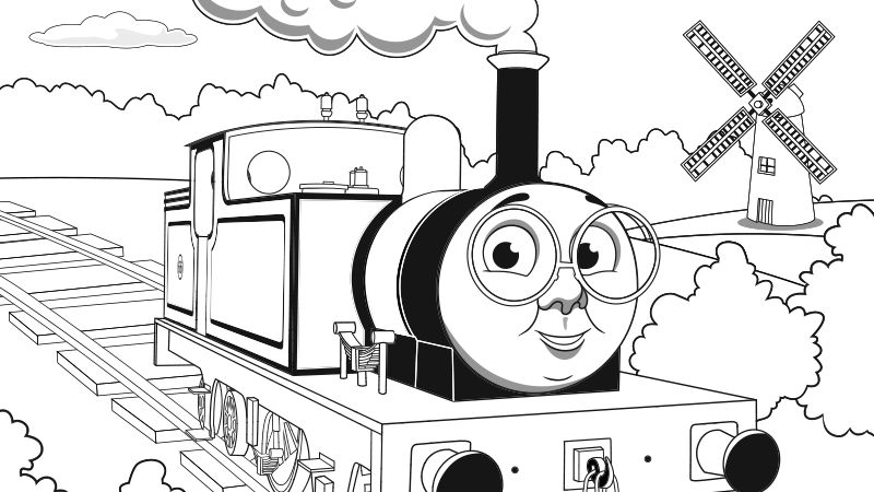 thomas the train coloring pages printable toby