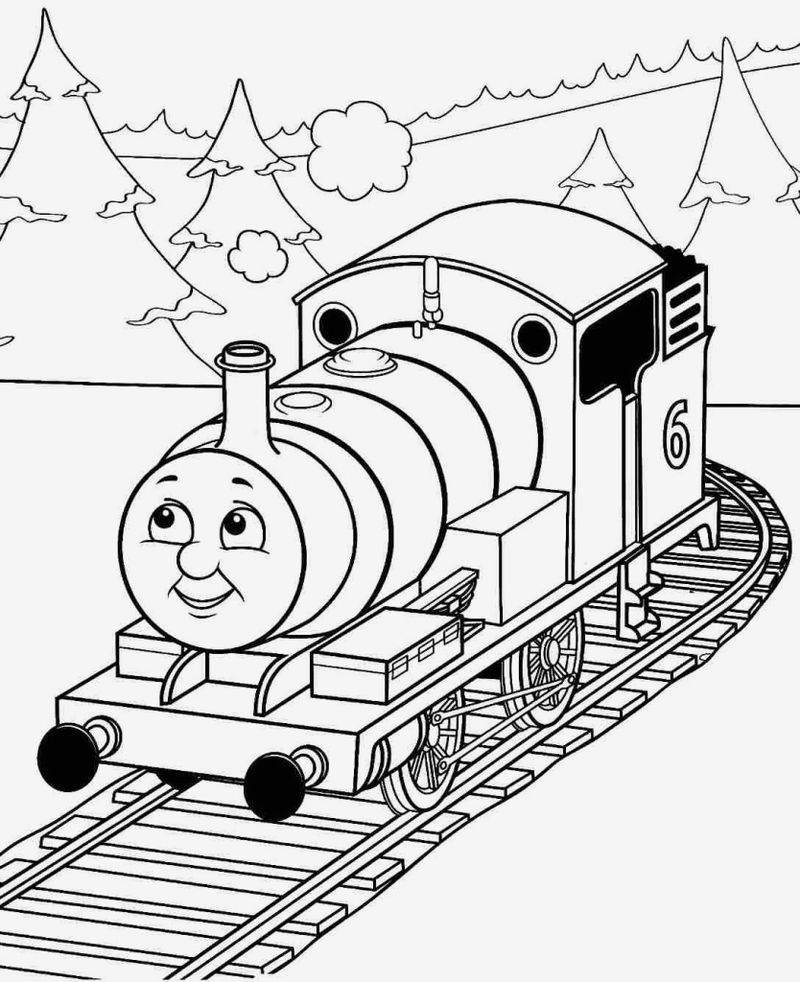 thomas the train coloring pages spencer