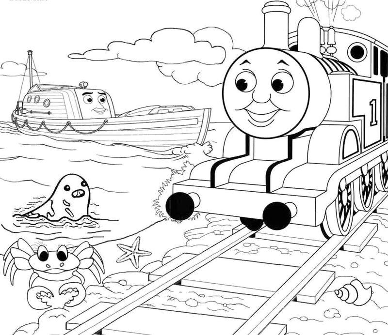 thomas the train coloring pages to print free