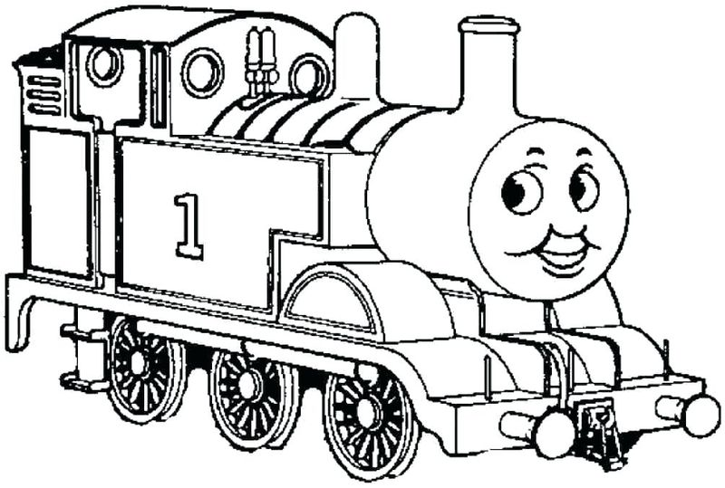 thomas the train colouring pages