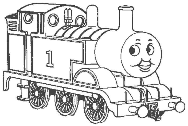thomas the train face coloring pages
