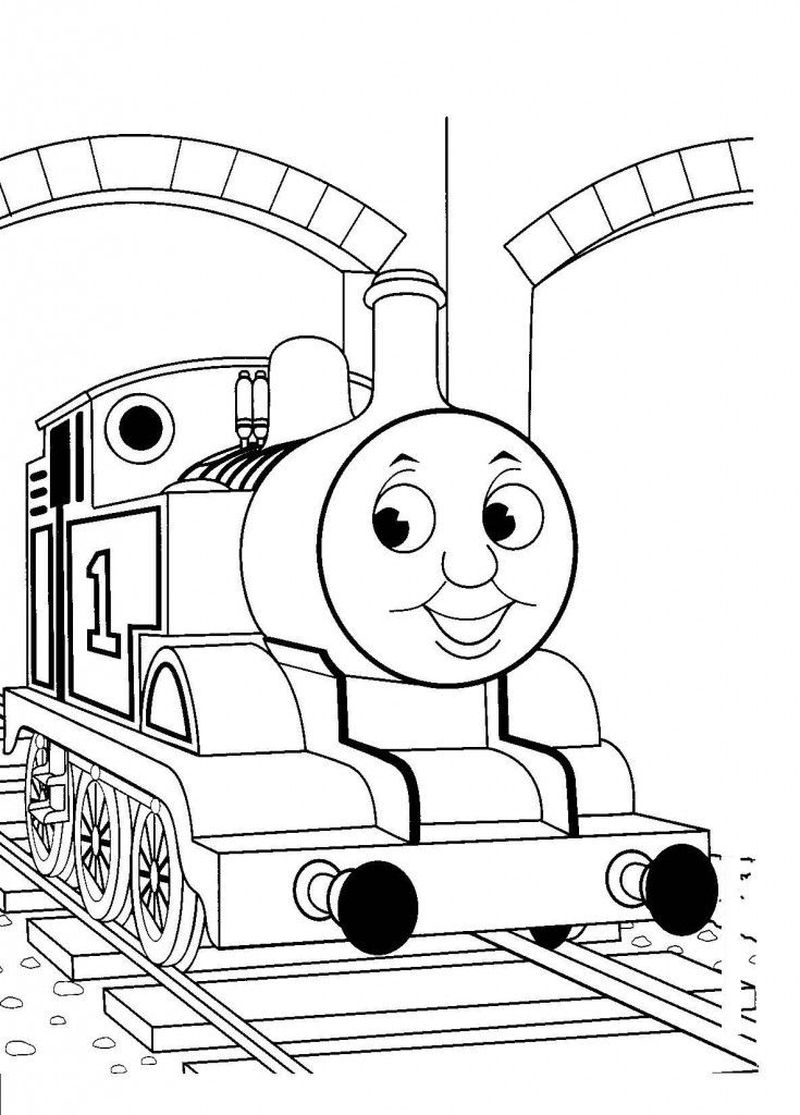 thomas the train happy birthday coloring pages