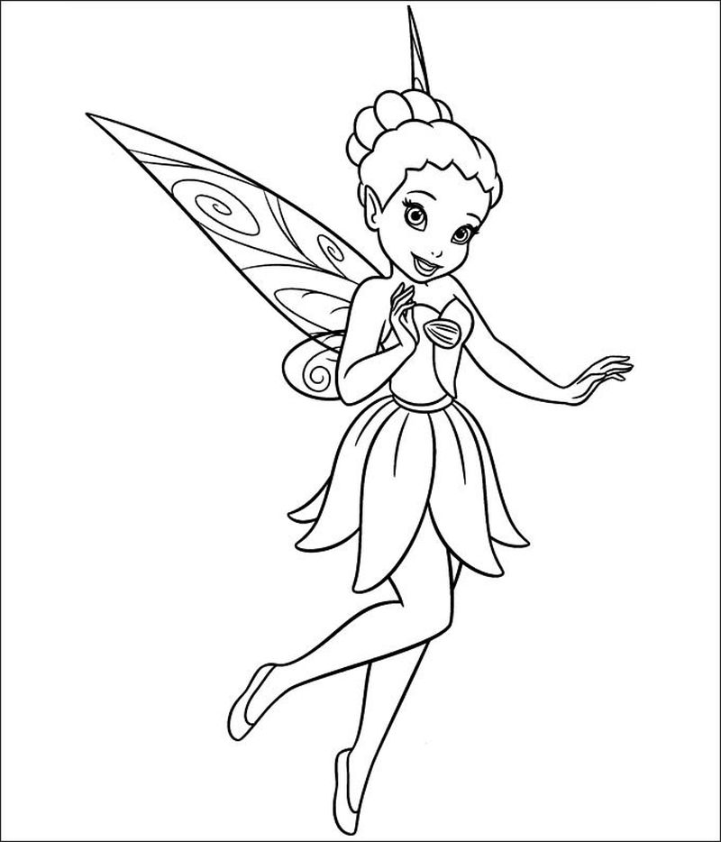 tinkerbell and her sister coloring pages