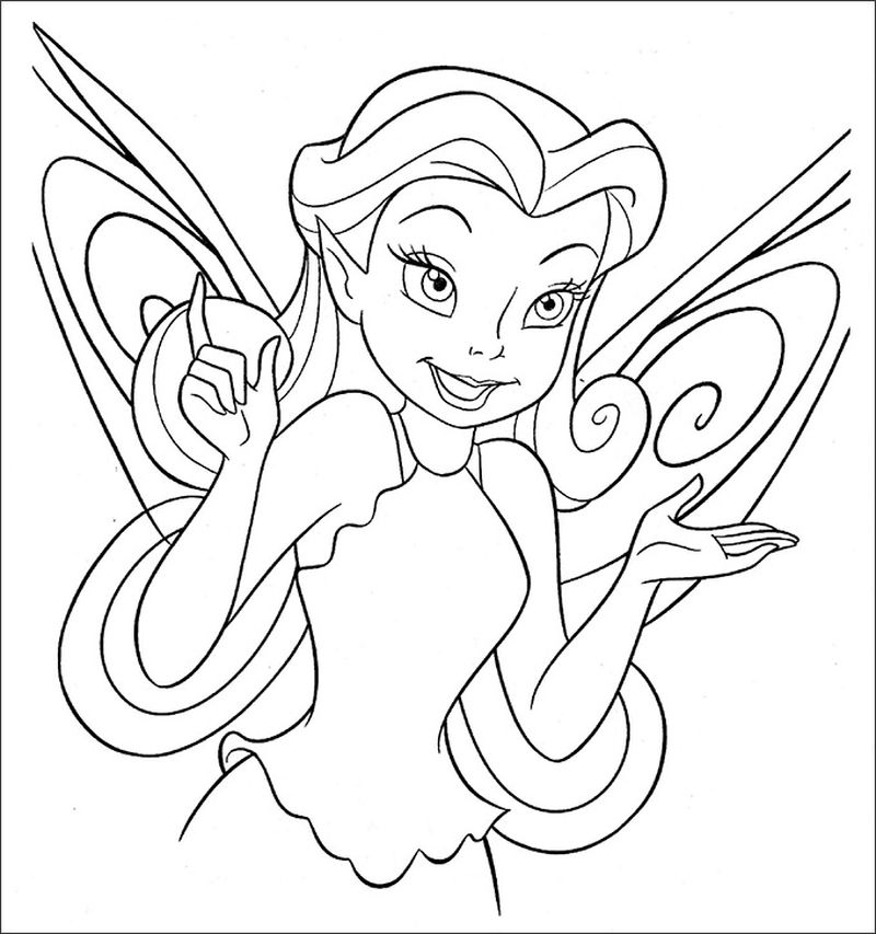tinkerbell coloring pages free print