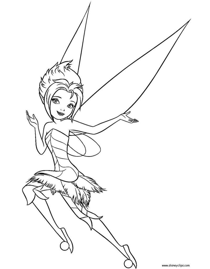 tinkerbell coloring pages halloween