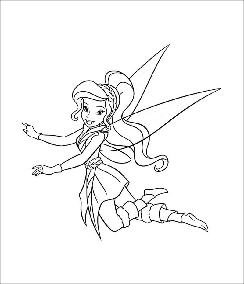 tinkerbell colouring pages free printable