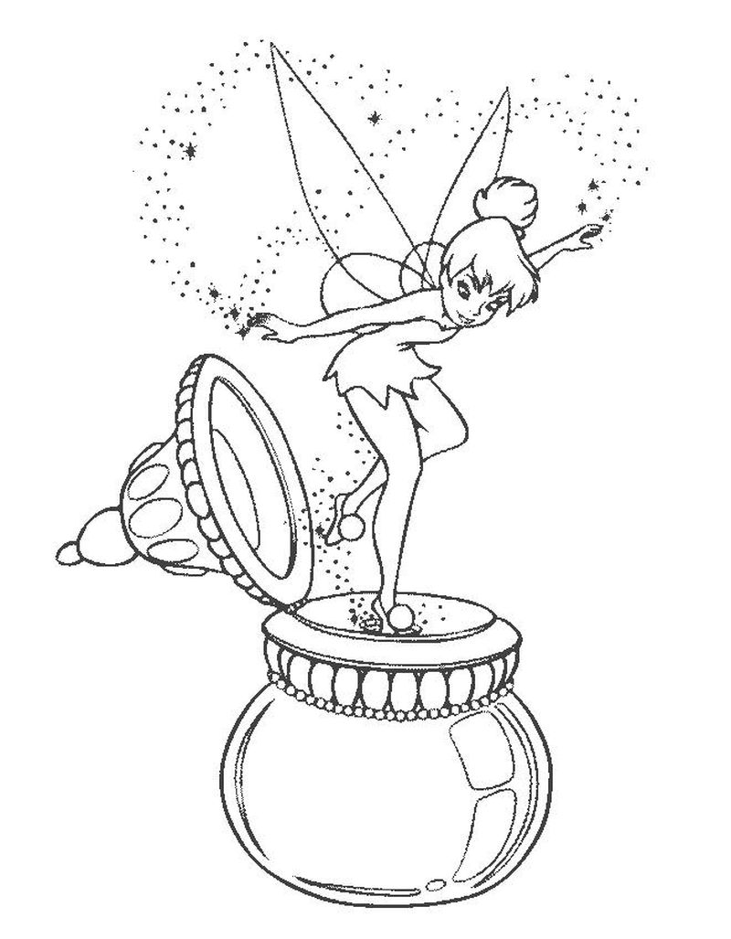 tinkerbell colouring pages pdf