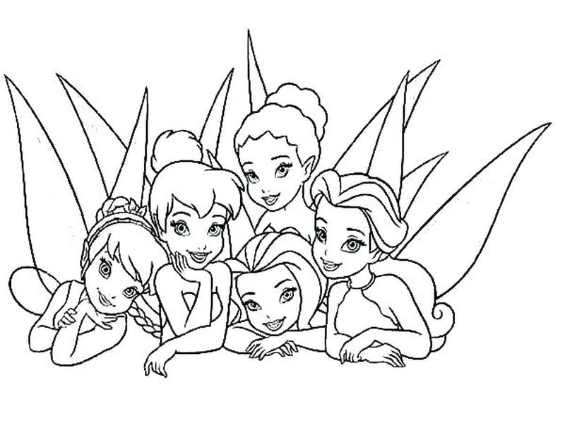 tinkerbell fawn coloring pages