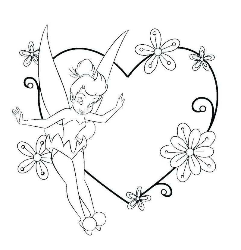 tinkerbell pirate coloring pages