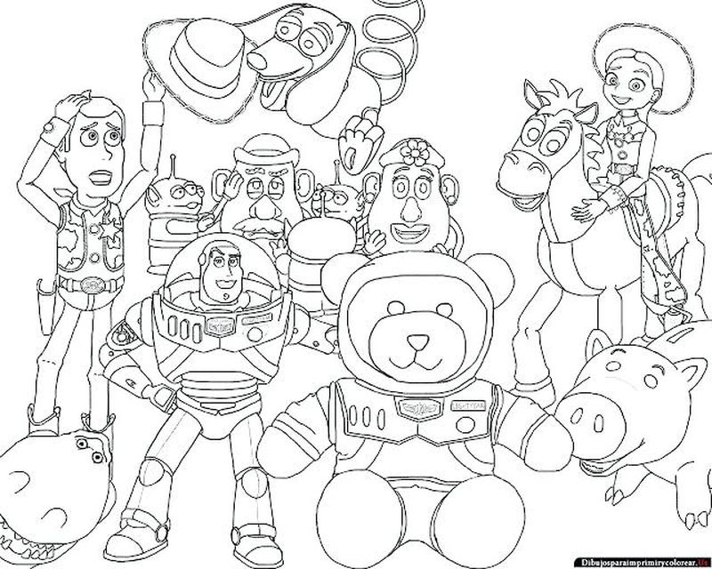 toy story 3 characters coloring pages