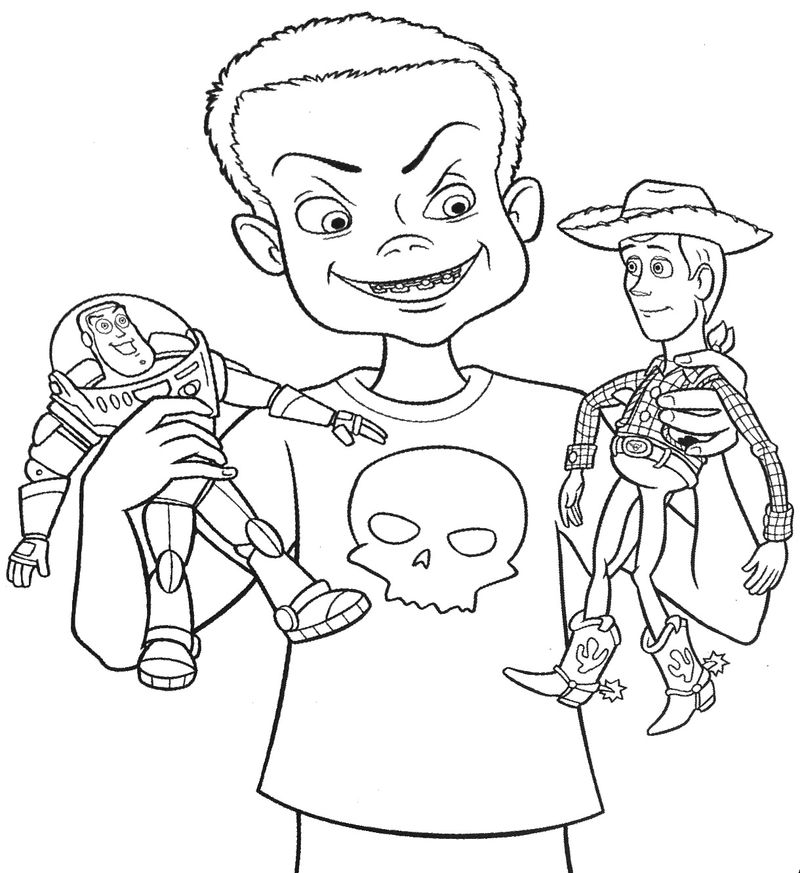 toy story 4 benson coloring pages