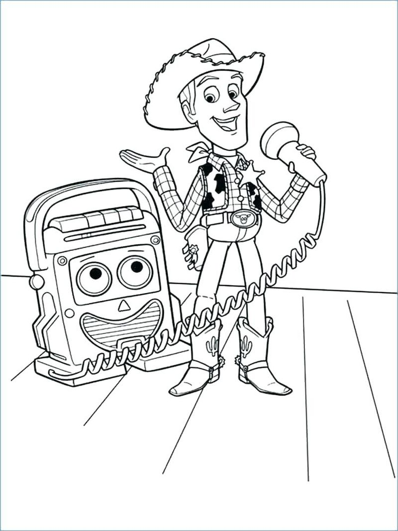 toy story birthday coloring pages