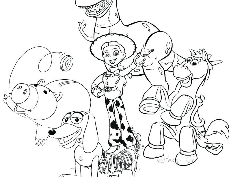 toy story color by number coloring pages