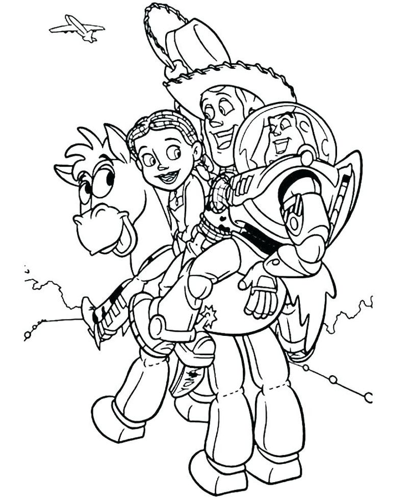 toy story coloring pages free to print