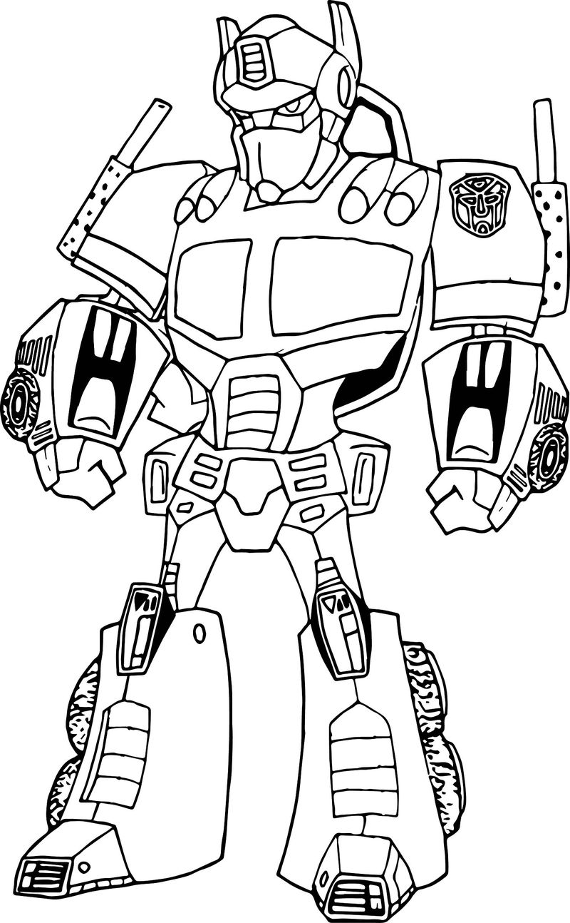 transformer robot coloring pages