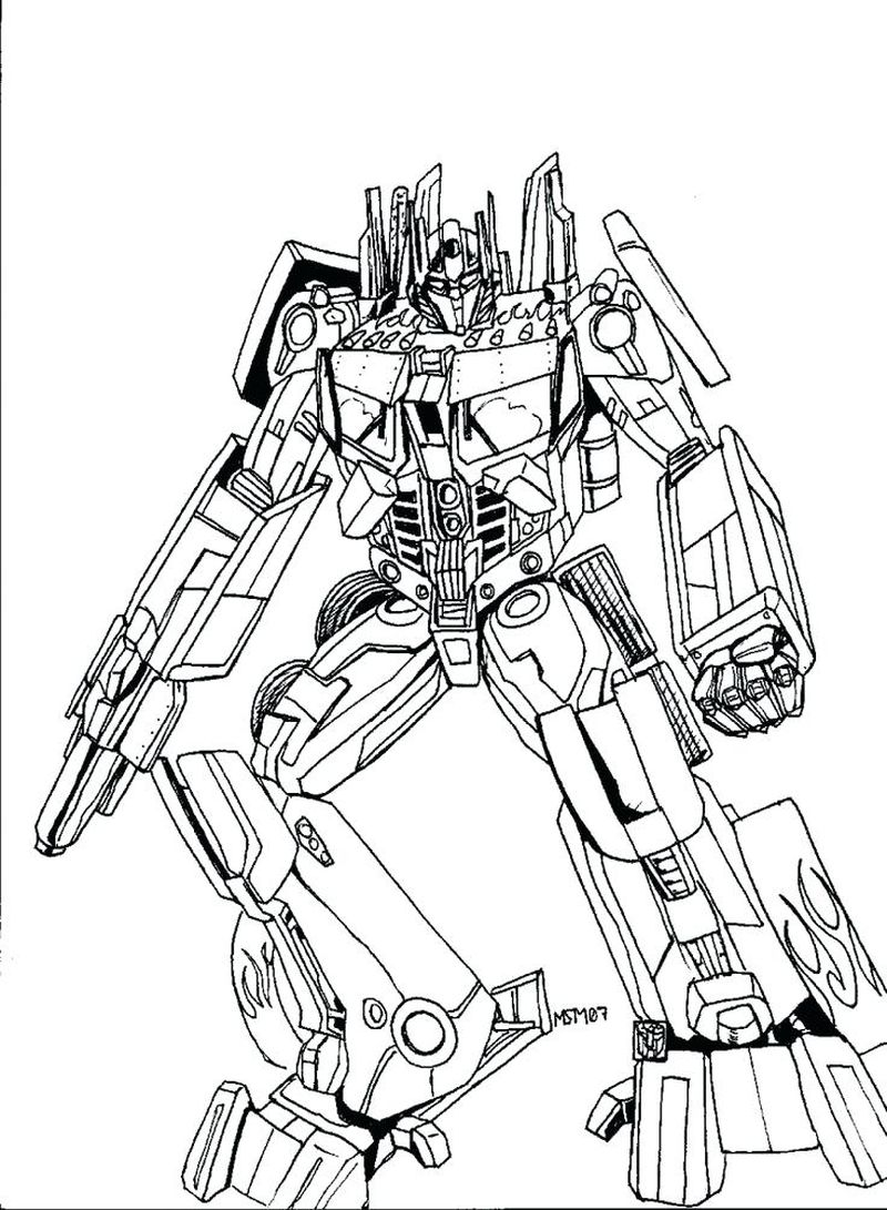 transformers cartoon coloring pages