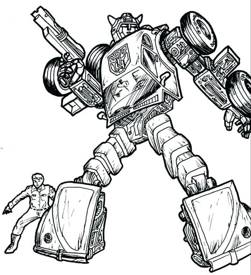 transformers free coloring pages