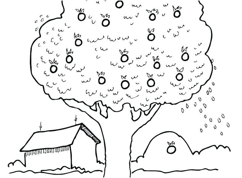 tree coloring pages fall