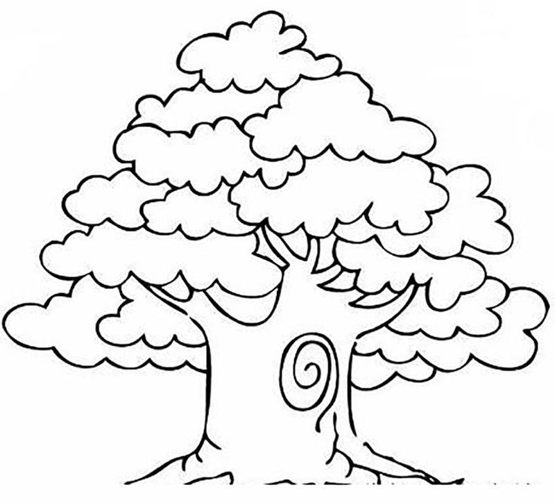 tree coloring pages for toddlers