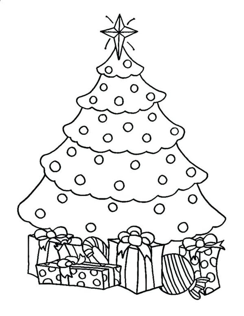 tree coloring pages pdf