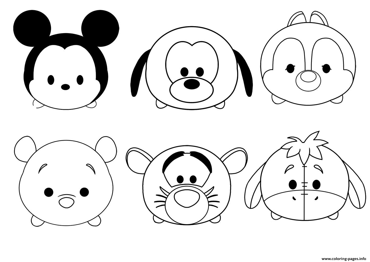 tsum tsum coloring pages event