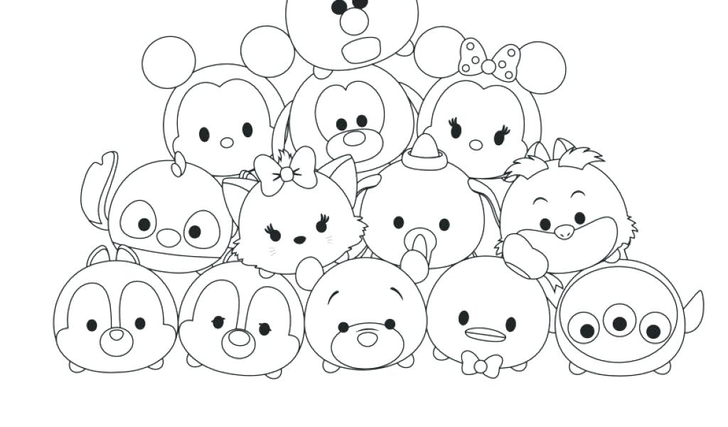 tsum tsum colouring pages