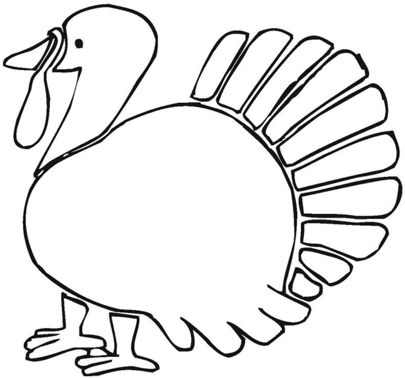 turkey coloring pages already colored