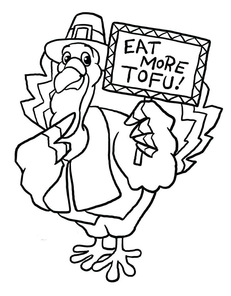 turkey coloring pages for prek