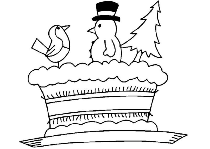 unicorn birthday cake coloring pages