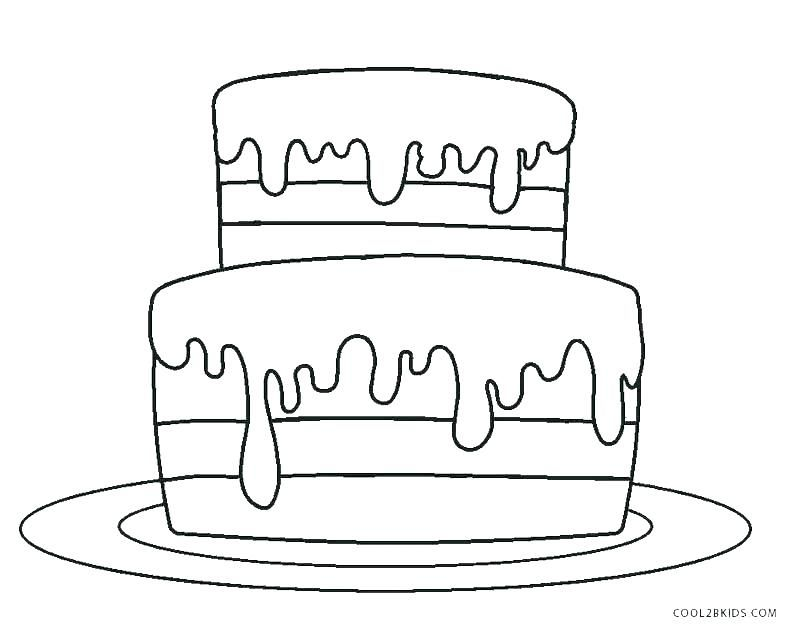 unicorn cake coloring pages printable