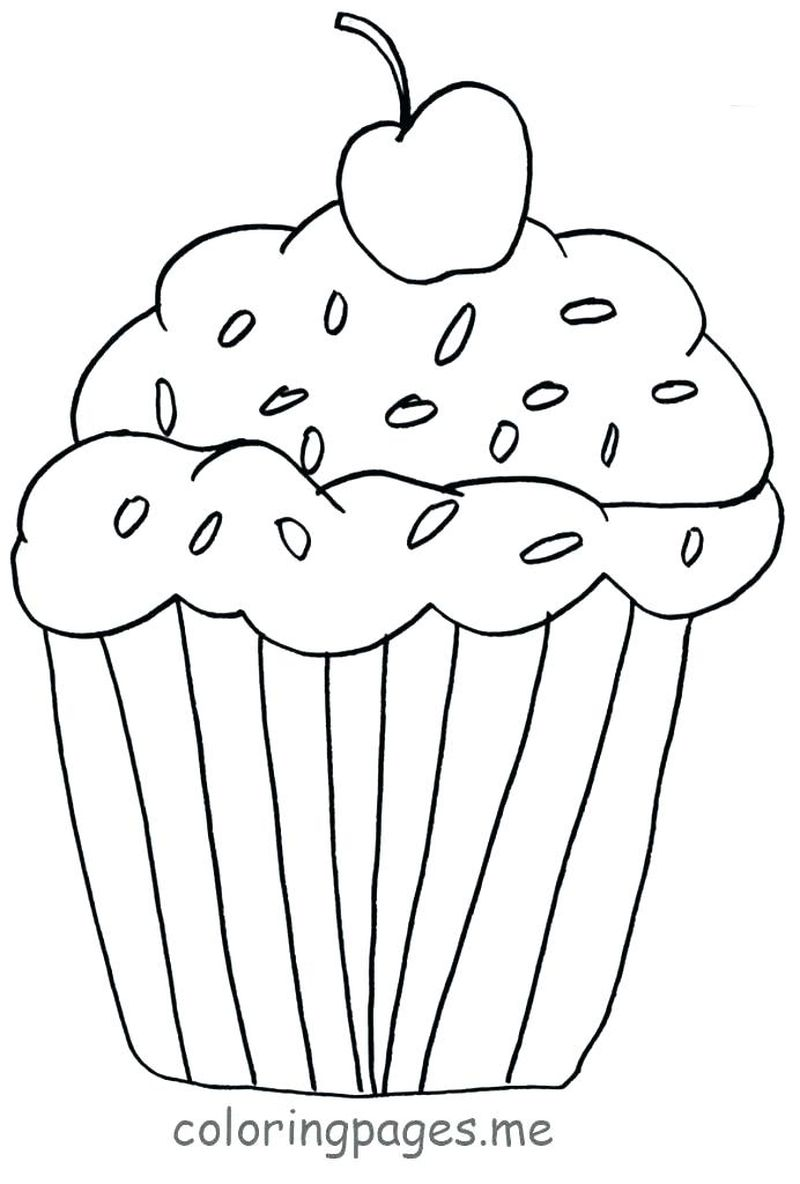 unicorn eating cake coloring pages