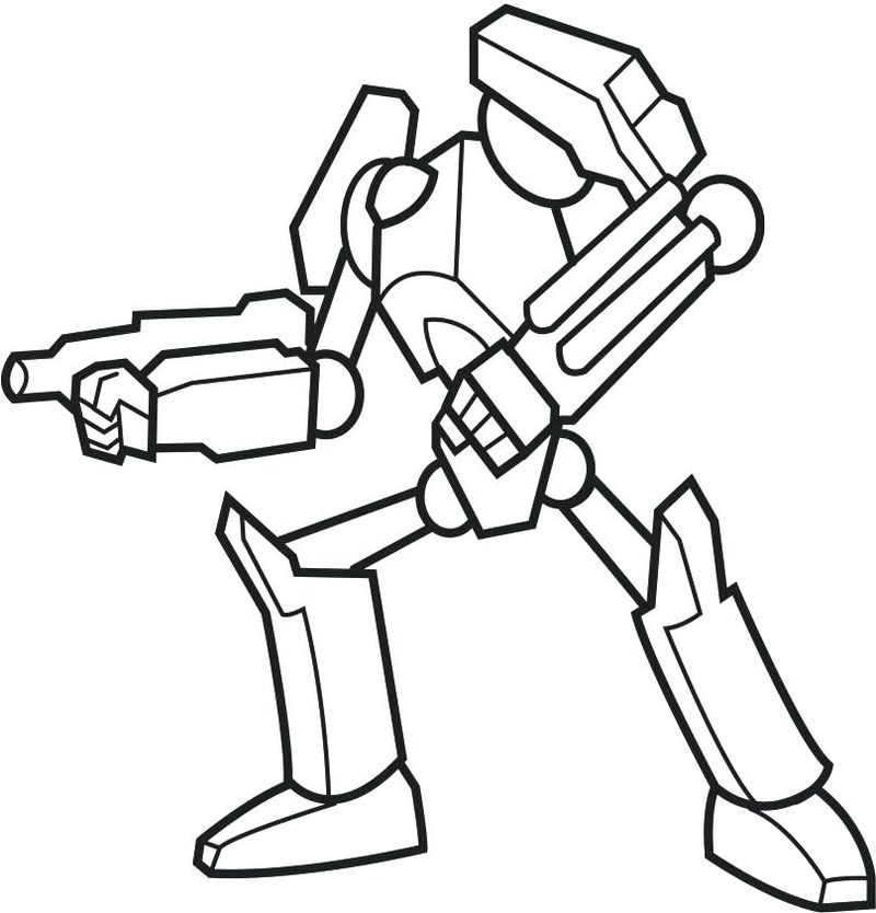 valentines day robot coloring pages
