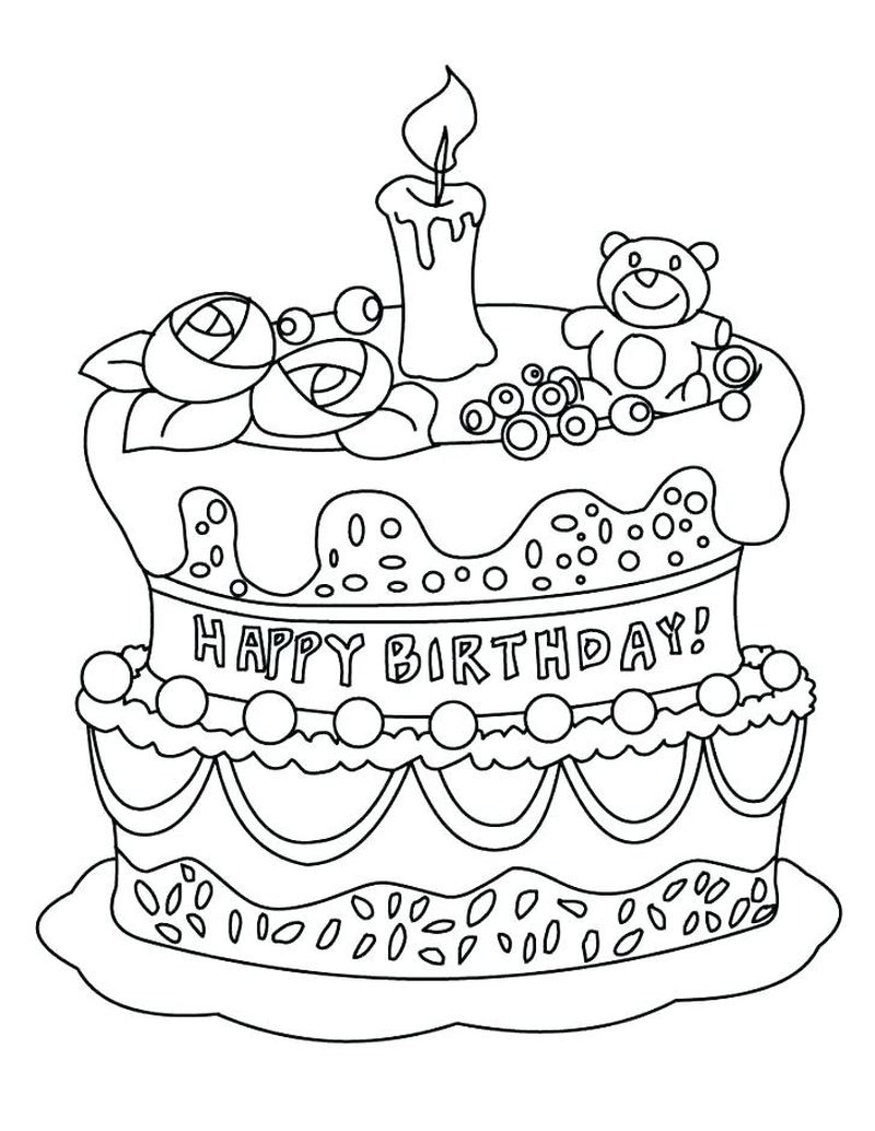 wedding cake coloring pages to print