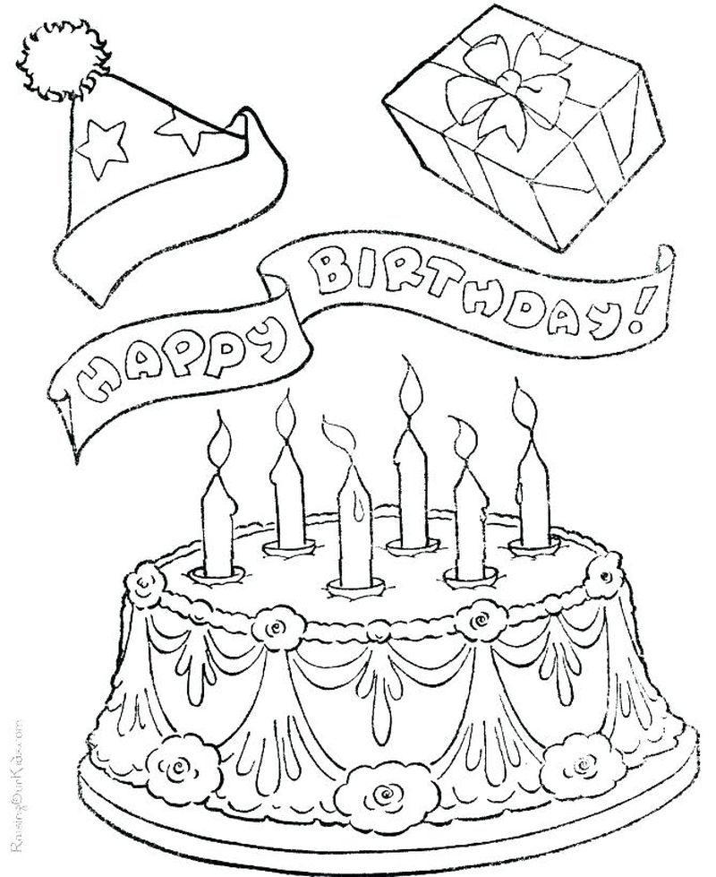 wedding cake colouring pages printable