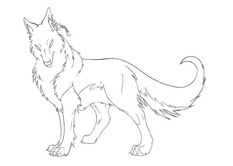 wolf pack coloring pages free