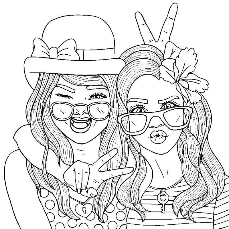 you best friend coloring page