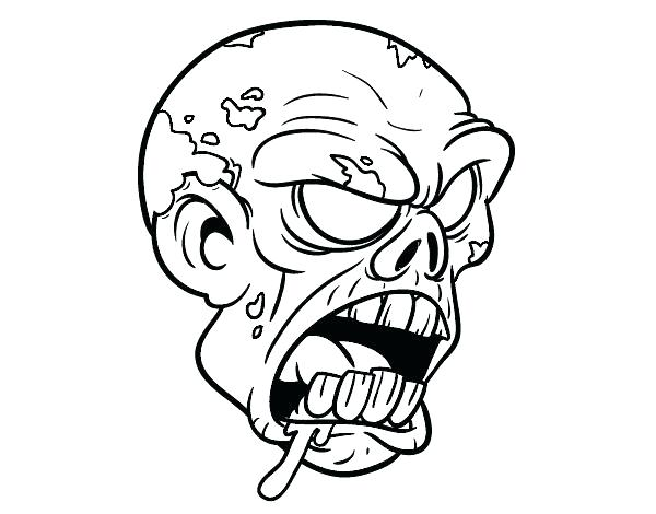 zombie clown coloring pages