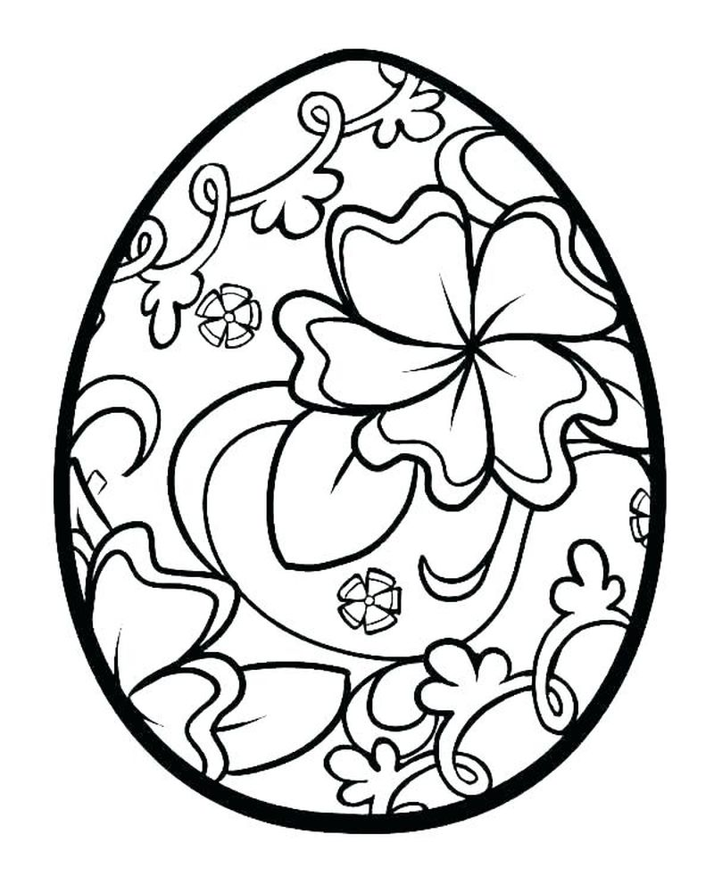 2 easter egg coloring pages