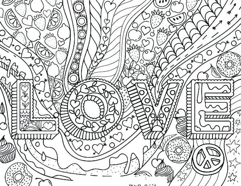 Anime Love Coloring Pages Printable