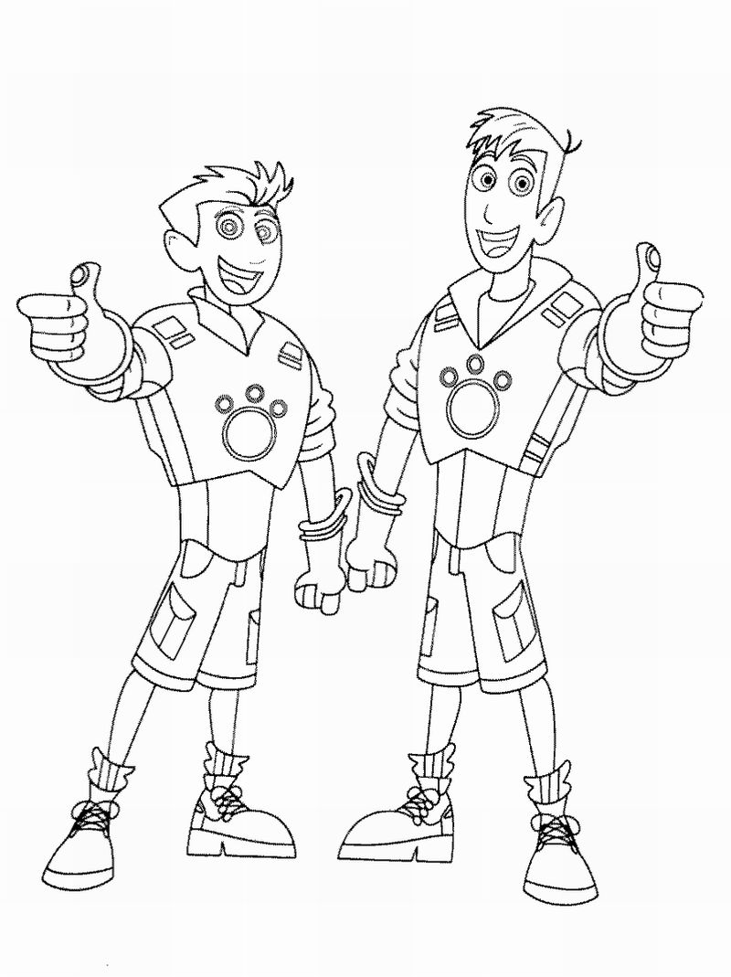 Aviva Wild Kratts Coloring Pages Printable