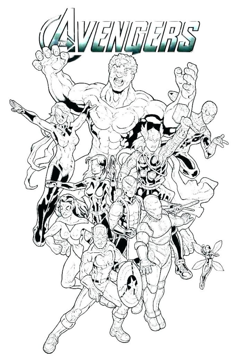 Awesome Marvel Coloring Pages