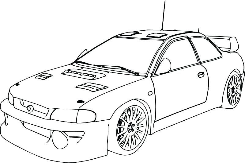 Blank Nascar Coloring Pages Printable