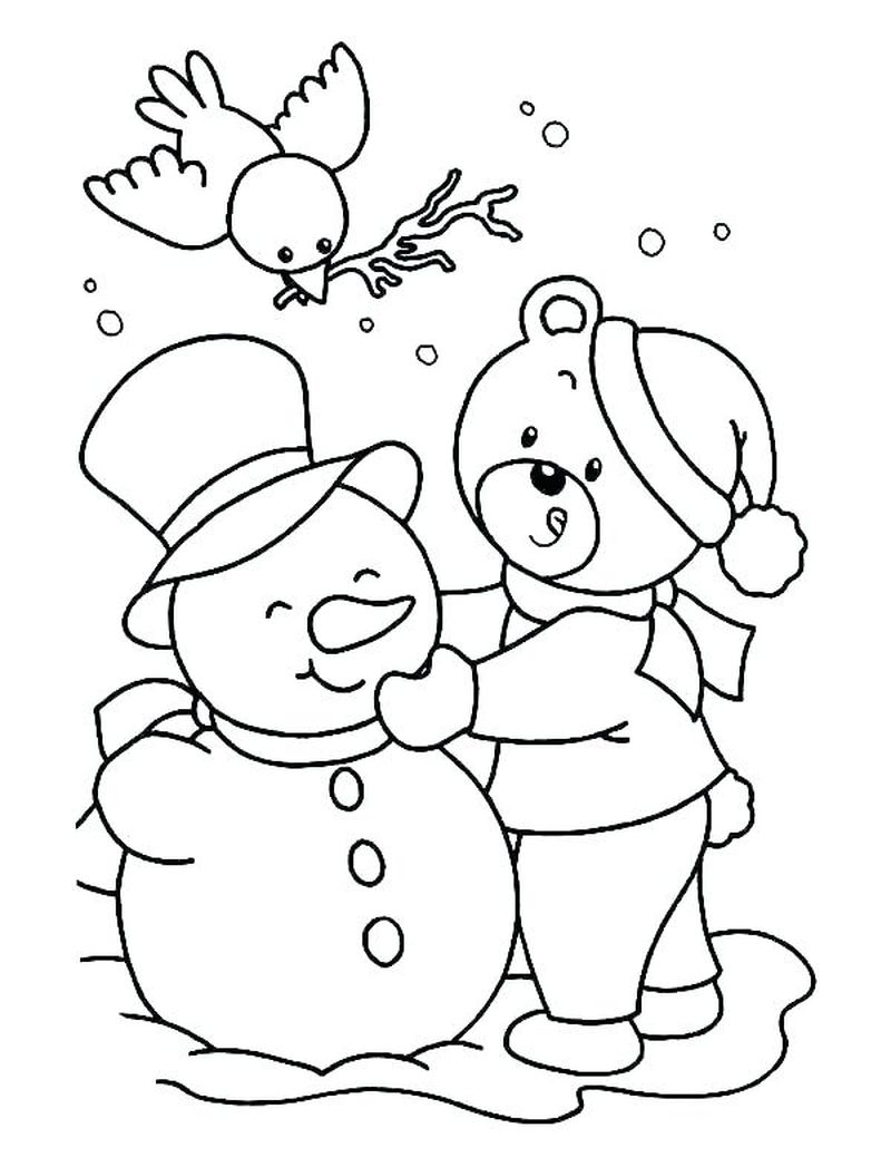 Cartoon Holiday Coloring Pages Free