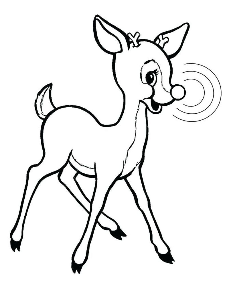 Christmas Coloring Pages For Kids Rudolph Hd