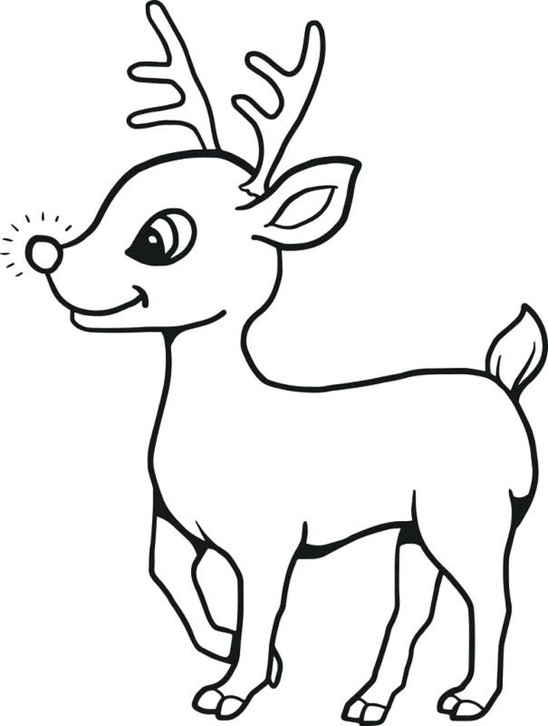 Christmas Coloring Pages Rudolph Red Nosed Reindeer Hd