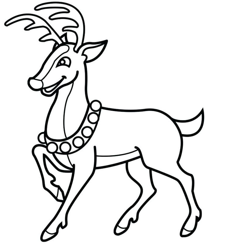 Christmas Rudolph And Clarisse Coloring Pages Print