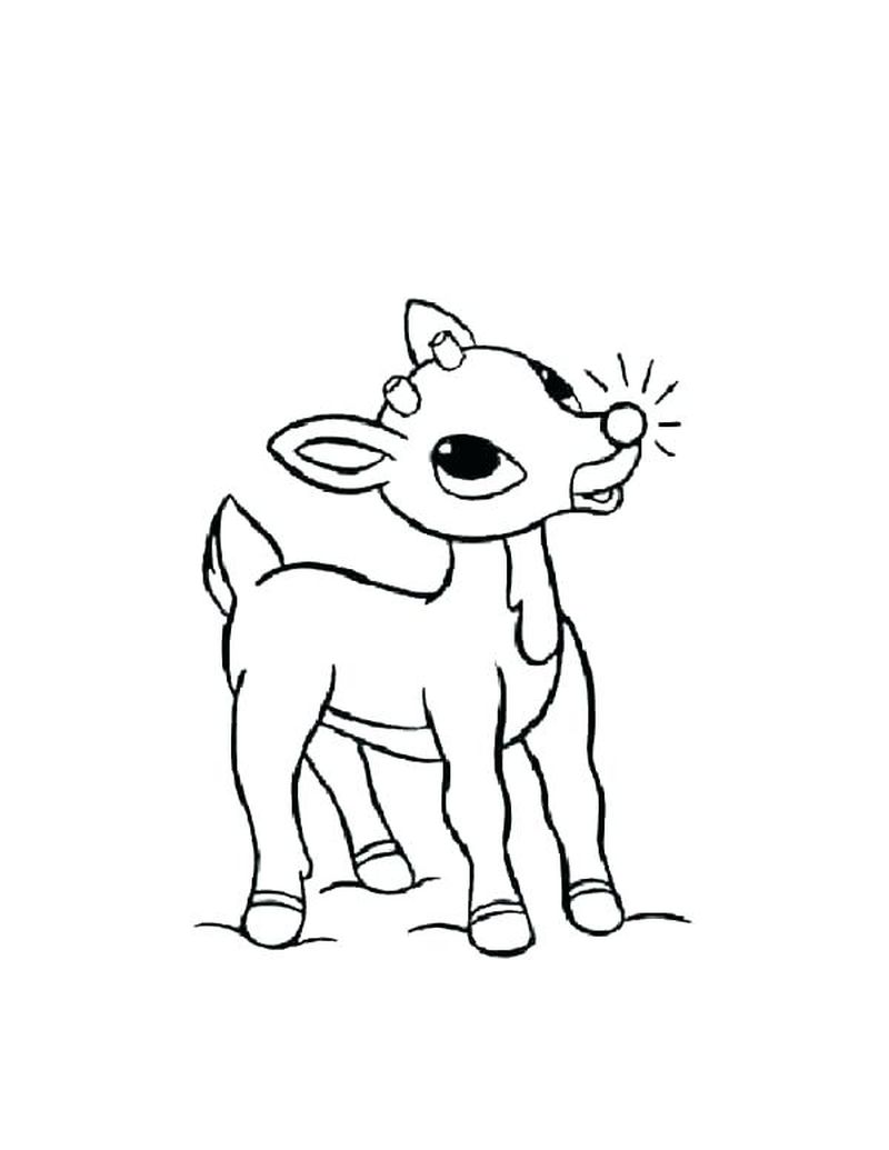 Christmas Rudolph Coloring Pages Print