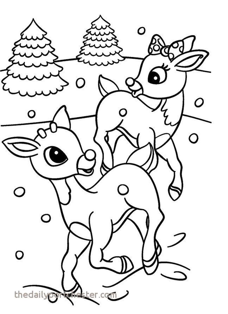 Clarice And Rudolph Coloring Pages Print